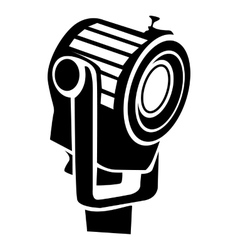 Floodlight icon in simple style vector