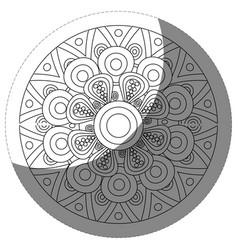 floral mandala icon vector image