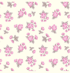 Floral seamless pattern flower background texture vector