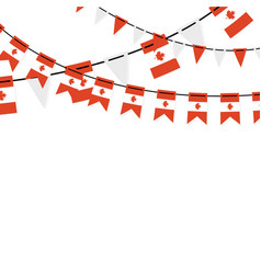 Garland banner in colors canada canadian vector