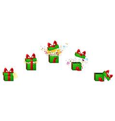 Gift explode vector