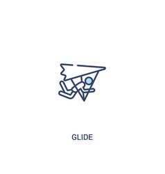 glide concept 2 colored icon simple line element vector image