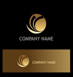 gold round loop company logo vector image