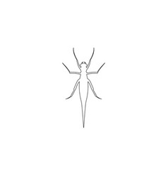 grasshopper flat icon vector image