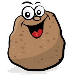 happy potato character vector image