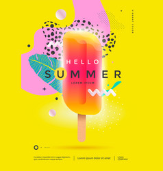 hello summer poster design for party or sale vector image