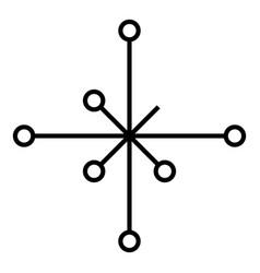 Helm of awe aegishjalmur or egishjalmur vector