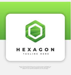 hexagon logo design inspiration vector image