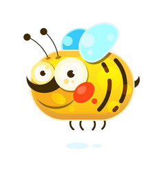 honey bee on white background vector image