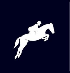Horse racing logo design template vector