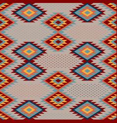 kilim ethnic ornament pattern of bright vector image