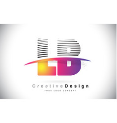 Lb l b letter logo design with creative lines vector