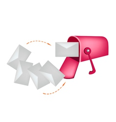 Letters and Red Mailbox vector image