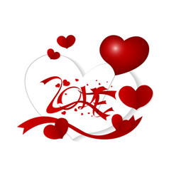 love concept for valentines day and wedding on whi vector image vector image