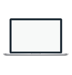MacBook Pro or Air isolated on white background vector image
