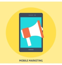 Mobile Marketing vector image