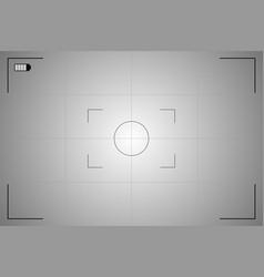 modern camera focusing screen vector image