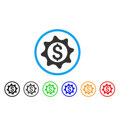money seal rounded icon vector image vector image