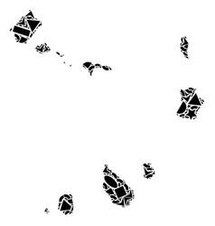 Mosaic map of cape verde islands of geometric vector