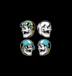 motosport skull esport logo icon vector image