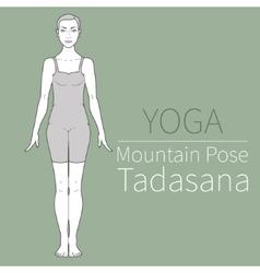 mountain posetadasana vector image