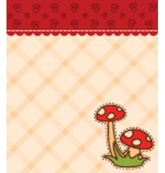 Mushroom backgrounds vector image