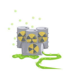 nuclear energy barrel nature air pollution vector image