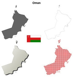 Oman outline map set vector image