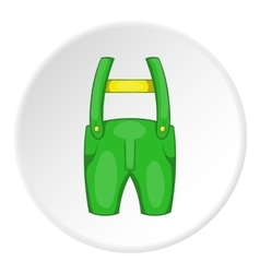 Pants with suspenders icon cartoon style vector image