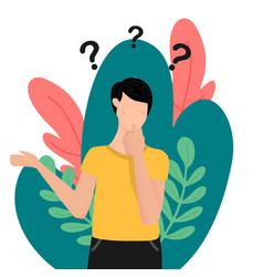 Question thoughtfulness flat style concept vector
