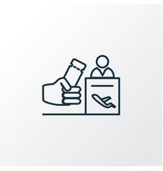 registration board icon line symbol premium vector image