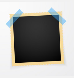 retro photo frame with shadows vector image