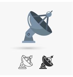 Satellite antenna icon vector image