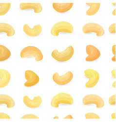 seamless texture with fresh cashews on white vector image