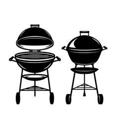 set bbq grill design element for poster vector image