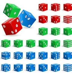 Set of dice vector