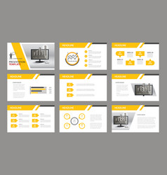 Set presentation template vector