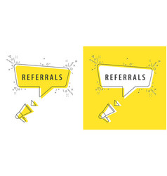 speaker and tag referrals vector image