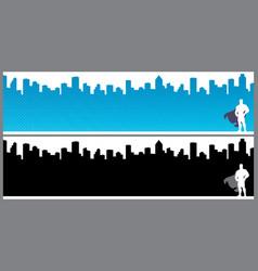 superhero city banners vector image