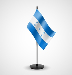 Table flag of Honduras vector image