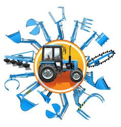 Tractor equipment concept vector