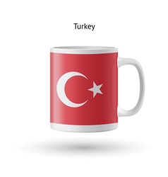 Turkey flag souvenir mug on white background vector