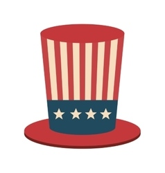 united states of america hat icon vector image