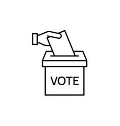 vote line icon vector image