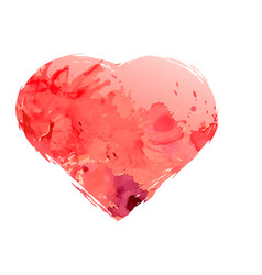 watercolor heart isolated on white background vector image