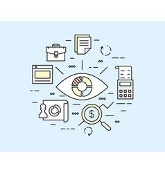 Web analytics information data processing vector