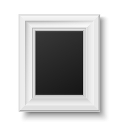 White wooden frame for picture or text vector image