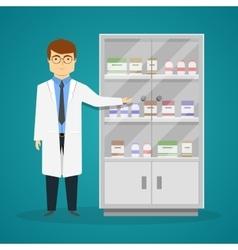 Advertisement Of Medicaments Design vector image