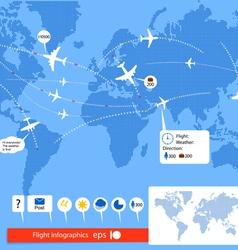 Flight infographics vector image