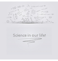 Hand draw chemistry background vector image